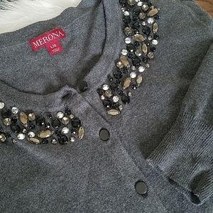 Rhinestones/beaded cardigan